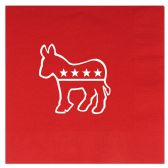 12 Units of Democratic Luncheon Napkins (2-Ply)  red