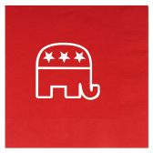 12 Units of Republican Luncheon Napkins (2-Ply)  red