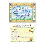 12 Units of B Is For Baby Invitations envelopes included; prtd 2 sides - Invitations & Cards