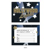 12 Units of Hollywood Lights Invitations envelopes included; prtd 2 sides - Invitations & Cards