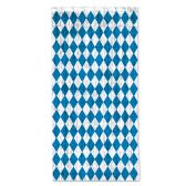 6 Units of Oktoberfest 1-Ply FR Gleam 'N Curtain white w/prtd blue harlequin design - Hanging Decorations & Cut Out