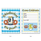 12 Units of Oktoberfest Invitations envelopes included; prtd 2 sides - Invitations & Cards