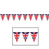 12 Units of Union Jack Pennant Banner all-weather; 12 pennants/string - Party Banners