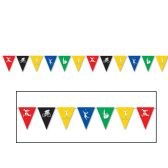 12 Units of Summer Sports Pennant Banner all-weather; 12 pennants/string - Party Banners