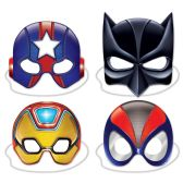 12 Units of Deluxe Hero Masks elastic attached - Party Hats & Tiara