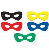 12 Units of Hero Half Masks elastic attached - Party Hats & Tiara