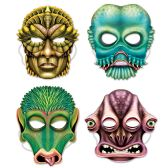 12 Units of Alien Masks elastic attached - Party Hats & Tiara