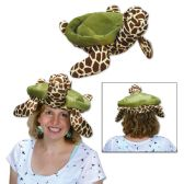 6 Units of Plush Sea Turtle Hat one size fits most
