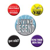 12 Units of Over The Hill Party Buttons asstd designs