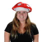 12 Units of Plush Mushroom Hat one size fits most - Party Hats/Tiara