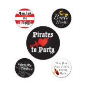 12 Units of Pirate Party Buttons asstd designs
