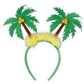 12 Units of Palm Tree Boppers Attached to Snap-on Headband - Party Novelties