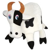 6 Units of Plush Cow Hat one size fits most - Party Hats & Tiara