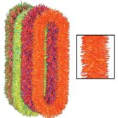12 Units of Soft-Touch Neon Poly Leis asstd colors