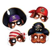 12 Units of Pirate Masks elastic attached - Party Hats & Tiara
