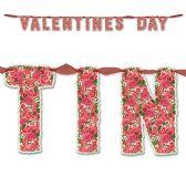 12 Units of Ribboned Valentine's Day Streamer