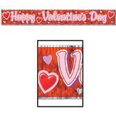 12 Units of Met Happy Valentine's Day Fringe Banner prtd 1-ply PET fringe