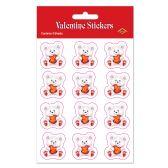 12 Units of Valentine Bear Stickers