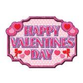 12 Units of Happy Valentine's Day Sign prtd 2 sides