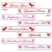 12 Units of Valentine Street Sign Cutouts prtd 2 sides w/different designs