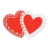24 Units of Heart Silhouettes prtd 2 sides - Streamers & Confetti