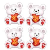 24 Units of Mini Valentine Bear Cutouts prtd 2 sides w/different designs