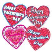 12 Units of Pkgd Valentine Heart Cutouts prtd 2 sides