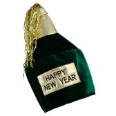 12 Units of HNY Bottle Head Hat one size fits most - Party Hats/Tiara