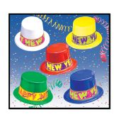 25 Units of Colorama Toppers asstd colors; one size fits most - Party Accessory Sets