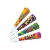 100 Units of Color-Brite Horns asstd colors - Party Favors
