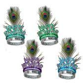 50 Units of Peacock Tiaras asstd colors - Party Hats & Tiara