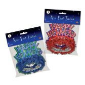 12 Units of Pkgd HNY Regal Tiaras asstd colors - Party Hats & Tiara