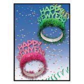 50 Units of HNY Regal Tiaras asstd colors - Party Hats & Tiara