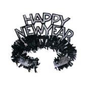 50 Units of Black & Silver HNY Regal Tiara - Party Hats & Tiara