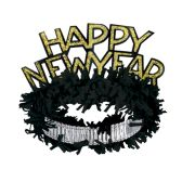 50 Units of Black & Gold HNY Regal Tiara - Party Hats & Tiara