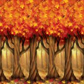 6 Units of Fall Trees Backdrop insta-theme