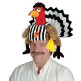 4 Units of Plush Referee Turkey Hat one size fits most