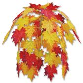 12 Units of Fabric Fall Leaves Cascade combination metallic & polyester - Party CenterPieces