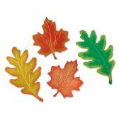 24 Units of Foil Leaf Silhouettes asstd colors; foil/prtd 2 sides - Streamers & Confetti