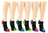 5 Units of Women's FILA Brand No-Show Socks - 6-Pair Packs (Size 9-11) - Mens Ankle Sock