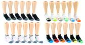 60 Units of Kid's FILA Brand No Show Socks - 6-Pair Packs (Size 6-8)