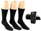 24 Units of Men's Black Classic Crew Dress Socks - Size 10-13