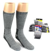 30 Units of Men's Thermal Merino Wool Crew Socks