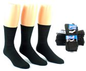 24 Units of Men's Athletic Crew Socks - Black - Size 10-13