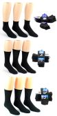 180 Units of Men's Black Athletic Socks Combo - Size 10-13 - Mens Ankle Sock