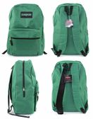 "12 Units of 17"" Classic PureSport Backpacks - Green - Backpacks 17"""