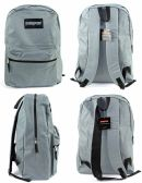 "12 Units of 17"" Classic PureSport Backpacks - Grey - Backpacks 17"""