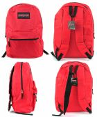 "12 Units of 17"" Classic PureSport Backpacks - Red - Backpacks 17"""