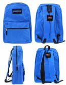 "12 Units of 17"" Classic PureSport Backpacks - Blue - Backpacks 17"""