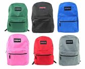 "24 Units of 17"" Classic PureSport Backpacks - Choose Your Colors - Backpacks 17"""